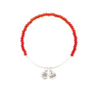 Red beaded Alex and Ani bracelet
